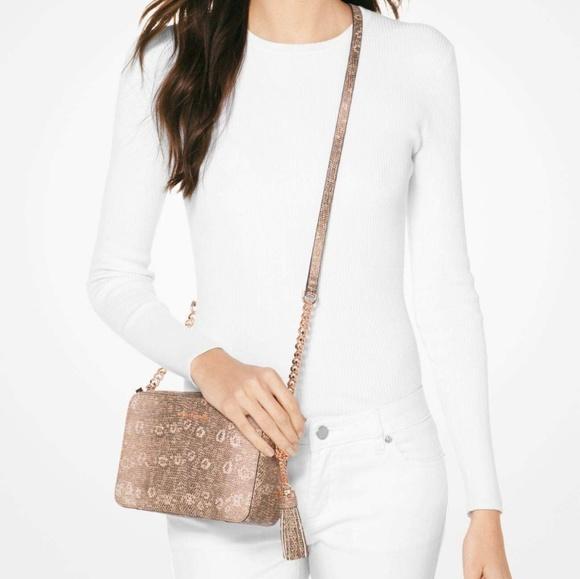a095c97359e49d Michael Kors Bags | Mk Ginny Lizardembossed Leather Crossbody | Poshmark